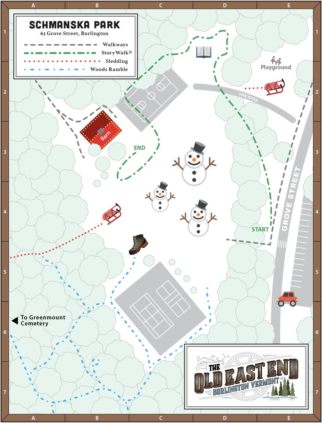 Schmanska Park map with Winterlude activities