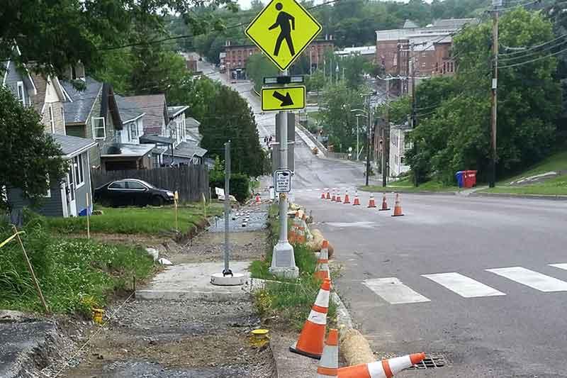 Improving the sidewalks along Colchester Avenue in Burlington Vermont