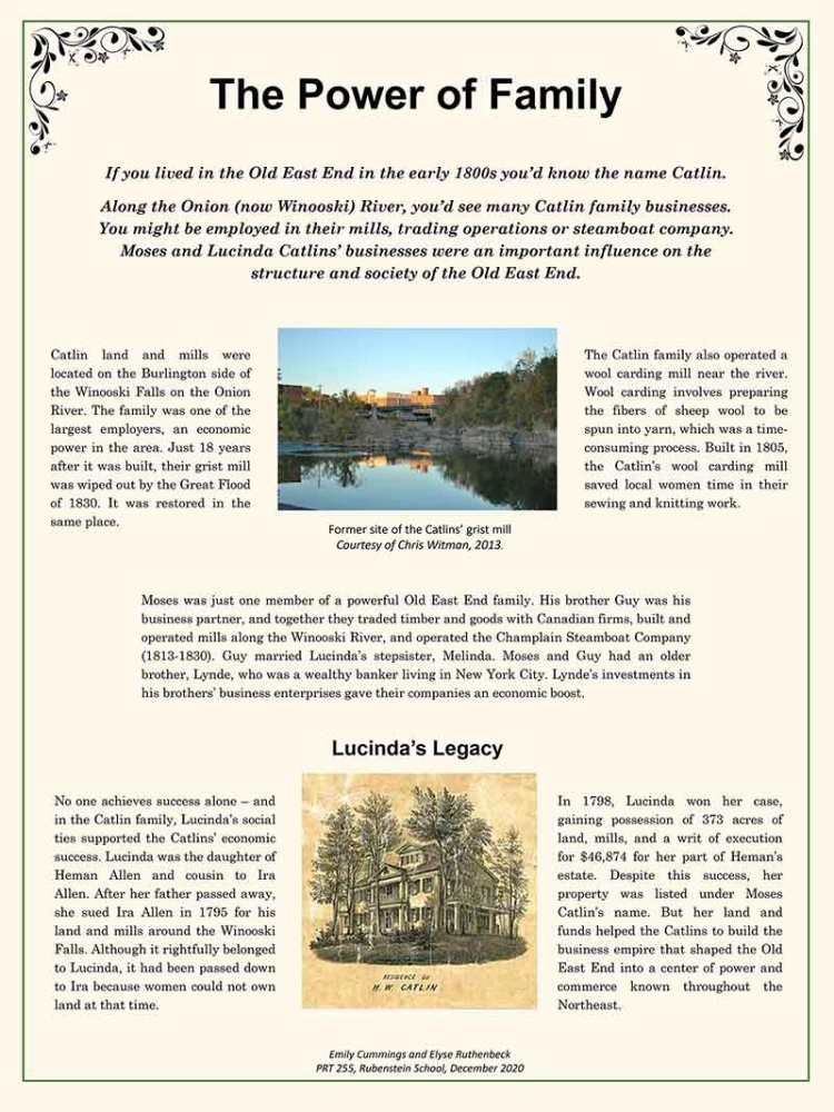 The Power of Family, a Catlin family history poster