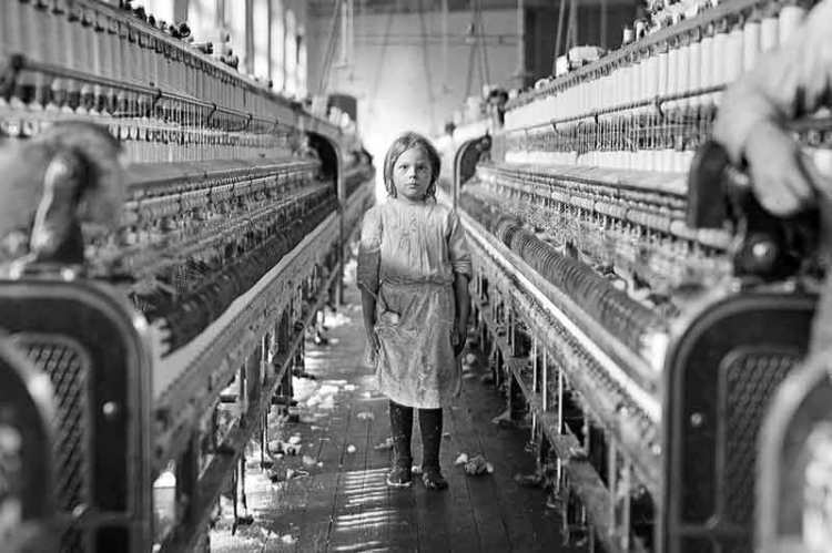 Child laborer at Chace Mill in Burlington Vermont